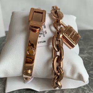 Michael Kors Rose Goldtone 2 Piece Bracelet NWT